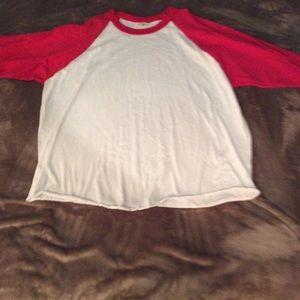 Three-quarter length generic baseball jersey